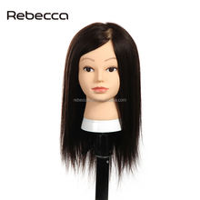 Rebecca Wholesale price training mannequin head with 100% human hair for barber