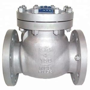 High quality water swing flanged type check valve 8 inch