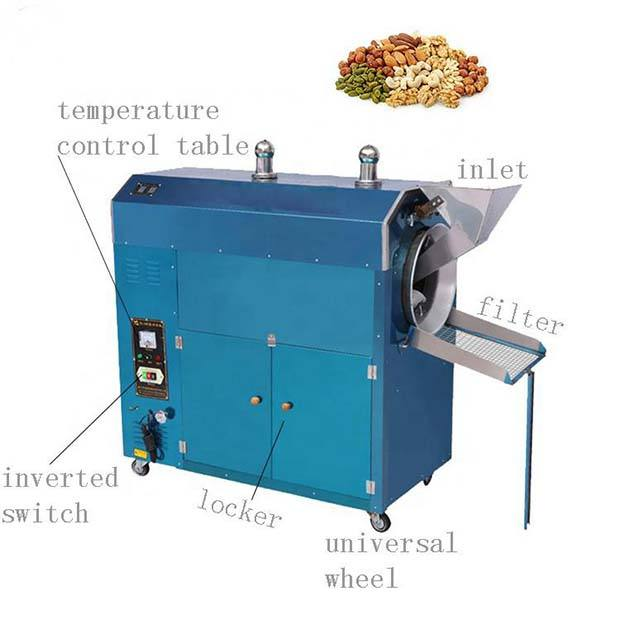 Widely used peanuts roaster/ peanut roasting machine for sale