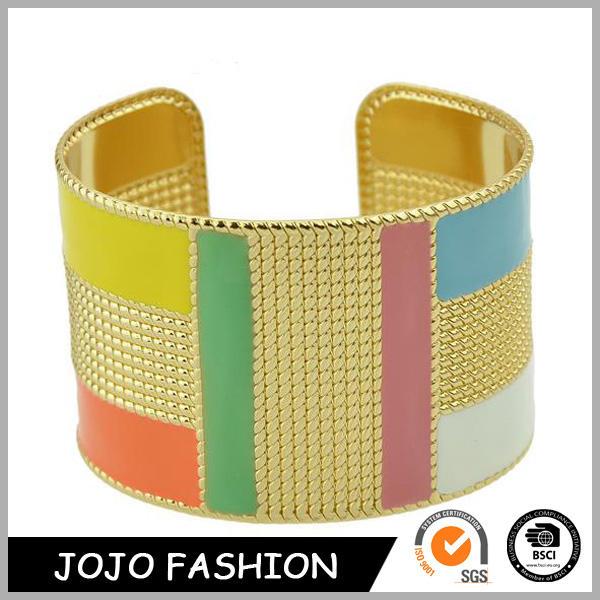 Hot design mulheres pulseira 18 k banhado a ouro moda esmalte pulseira pulseira de metal