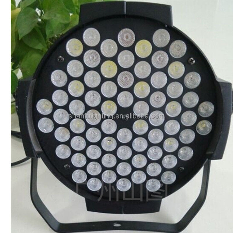 de Fábrica De Aluminio de Vivienda 3 W 72 unids Cada <span class=keywords><strong>LED</strong></span> RGB Iluminación de la Etapa Luz de la <span class=keywords><strong>Igualdad</strong></span> del Color de Mutil