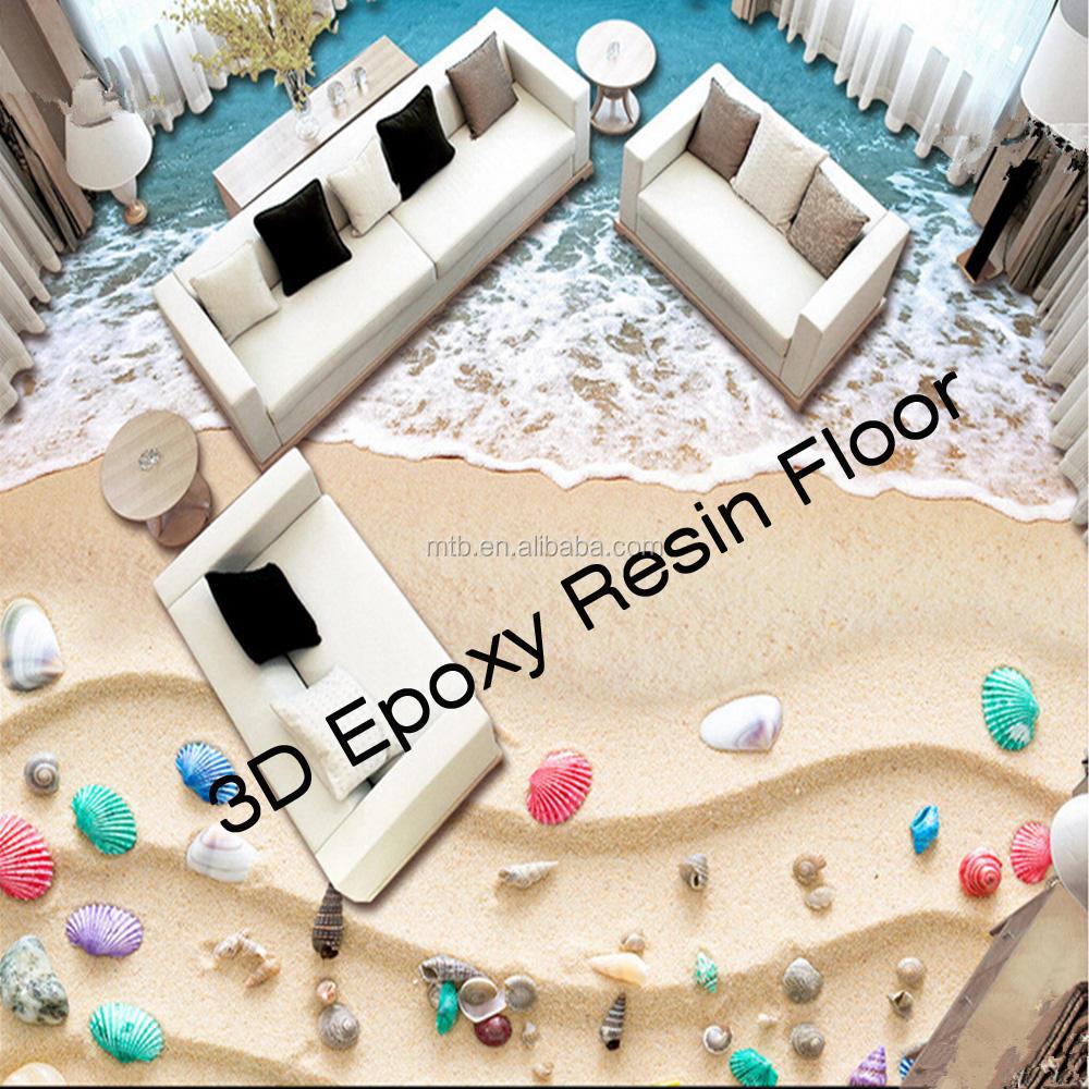 Pittura Resistente Ai Graffi 3d resina epossidica pavimento della sala decorazione e