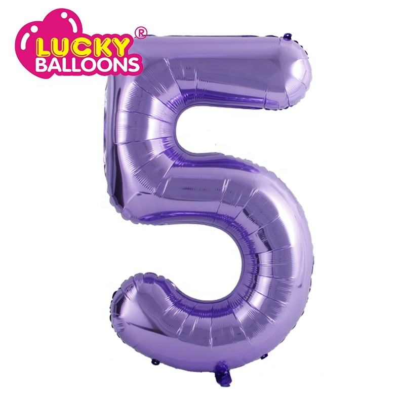 purple Number helium foil balloon party balloon