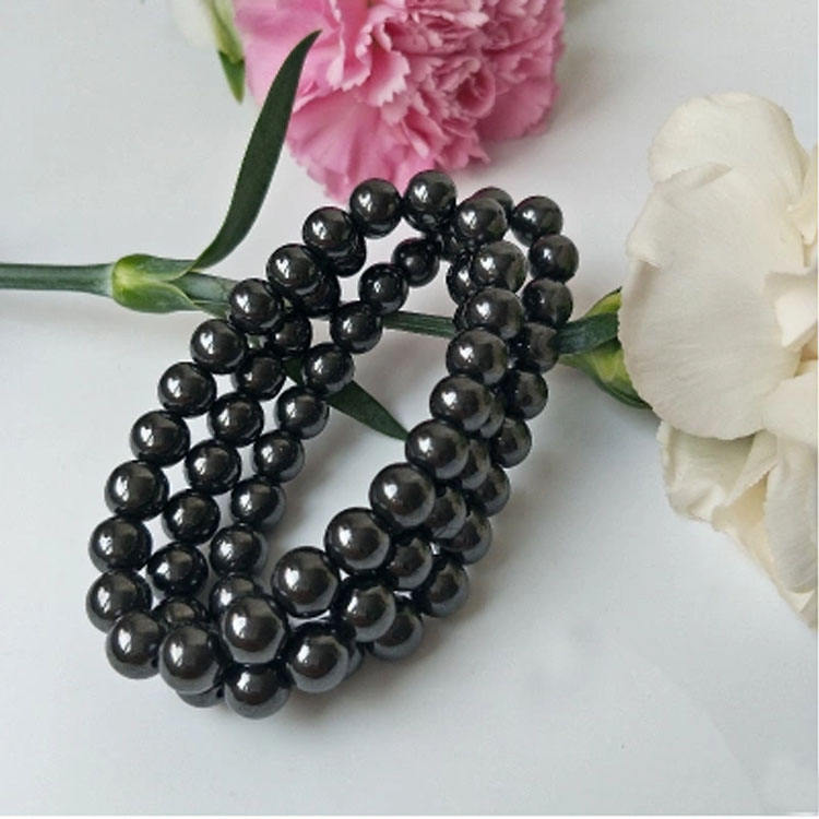 잘 팔리는 8 미리메터 보건부 (health charm women men 볼 crown Natural 돌 beads bio lady (eiffel tower) 자기 적철광 bracelets