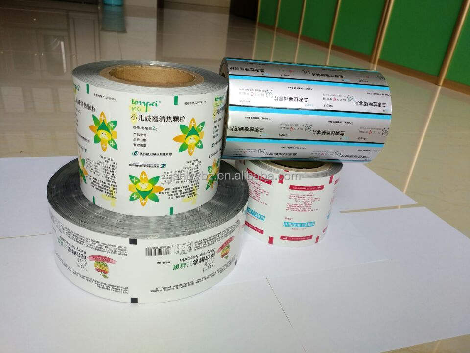 Printed pouches plastic packaging film roll