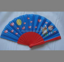 fashion fabric hand fan for business gifts