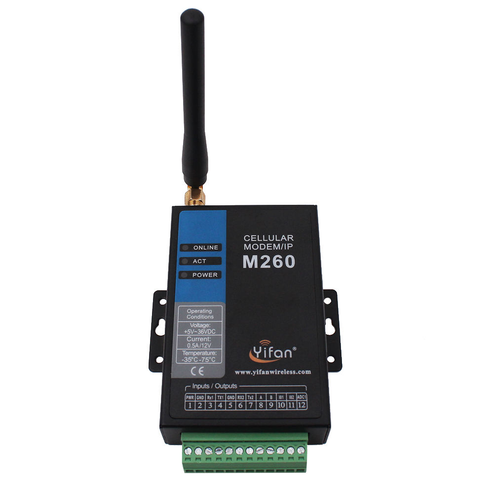 Support B4 B28 M260 Dual RS232 Industrial 3G 4G LTE modem with sim card slot