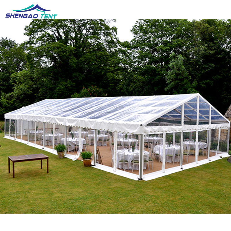 200 People Aluminum Frame Transparent Wedding Marquee Tent For Outdoor Event