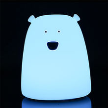 Creative Cute Bear LED Table Lamp LED Night Light for Children Kids Baby Lamp Multicolor Silicone Nursery Bedside Lamp
