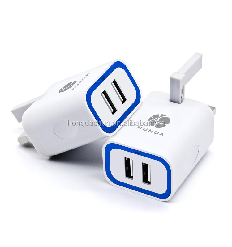 Universele Dual Port Stopcontact USB Lader met Micro USB Charger Cable