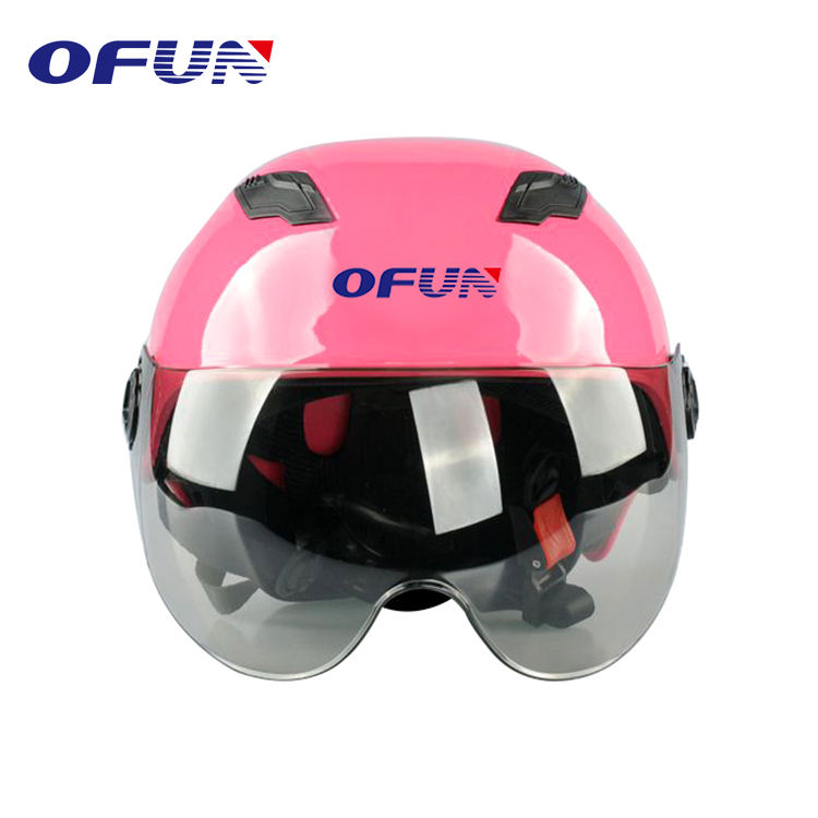OFUN Oem Factory China Cheap Custom Design Women Pink Motorcycle Helmet