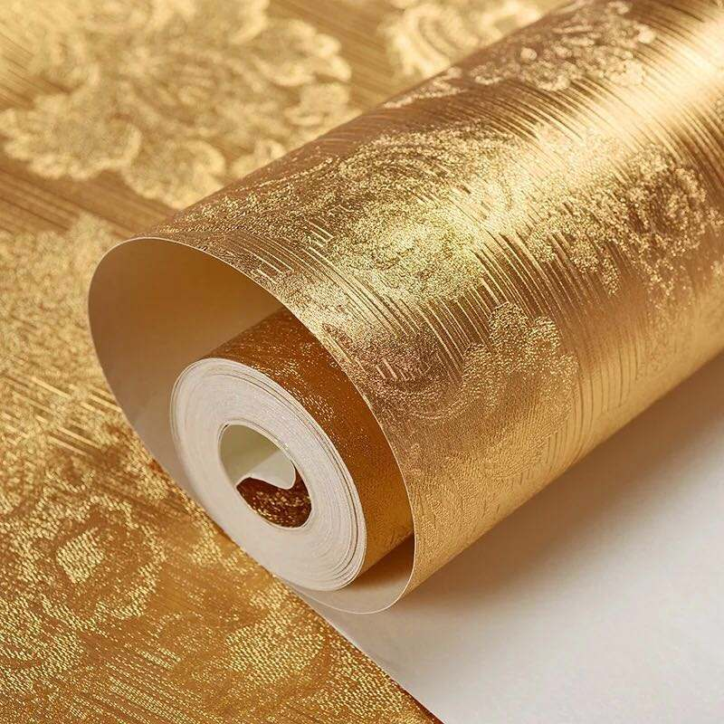 Foil Glitter 3d Golden High Quality Gold Wallpaper