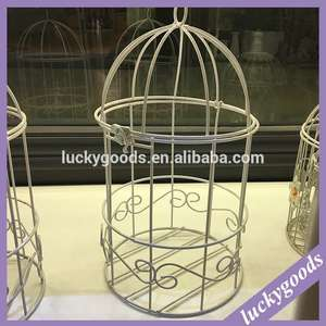 2016 custom made fancy birdcage del basamento per i fiori artificiali