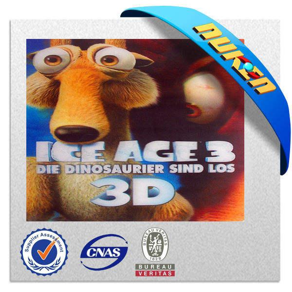 chinses بلاستيك 3d cd مع تغطية عالية-- جودة