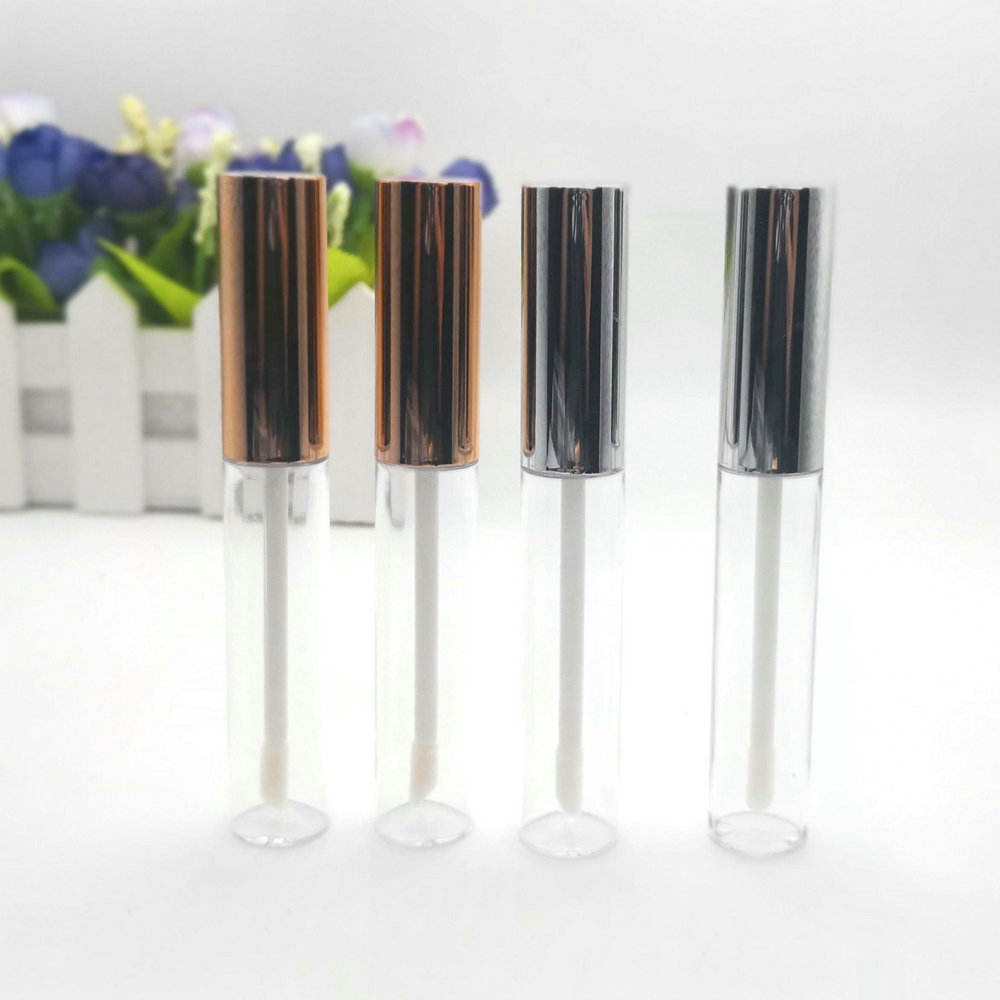 Gold cap lip gloss tube, silver empty lipgloss tube 10ml