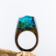 SecretWood Resin Rings Microland Forest Finger Rings Jewelry