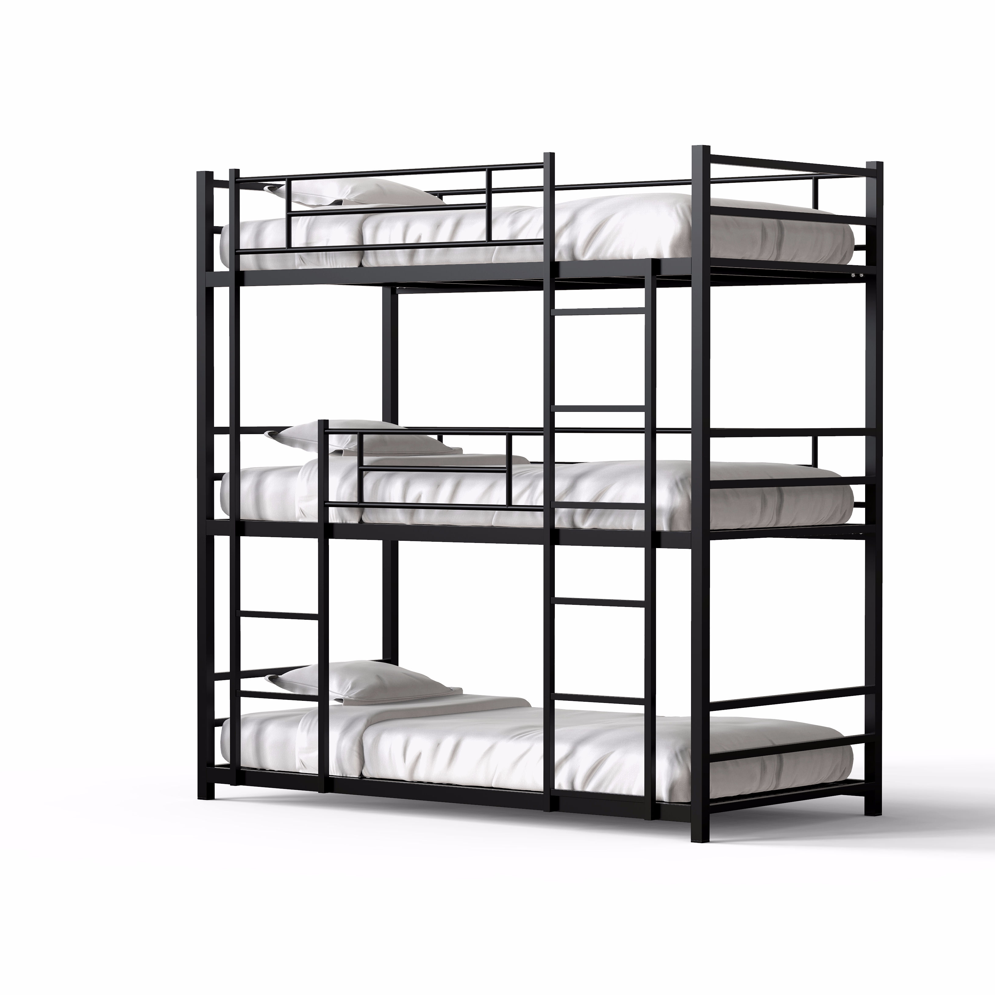 2019 Home dormitory steel locker hostel beds 3 layer metal bunk bed with wire mesh bedroom furniture