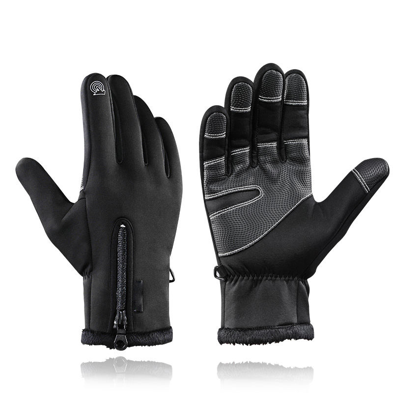 Touch Screen Bike Gloves Winter Thermal Windproof Warm Full Finger Cycling Glove Anti-slip Bicycle Gloves For Men Women