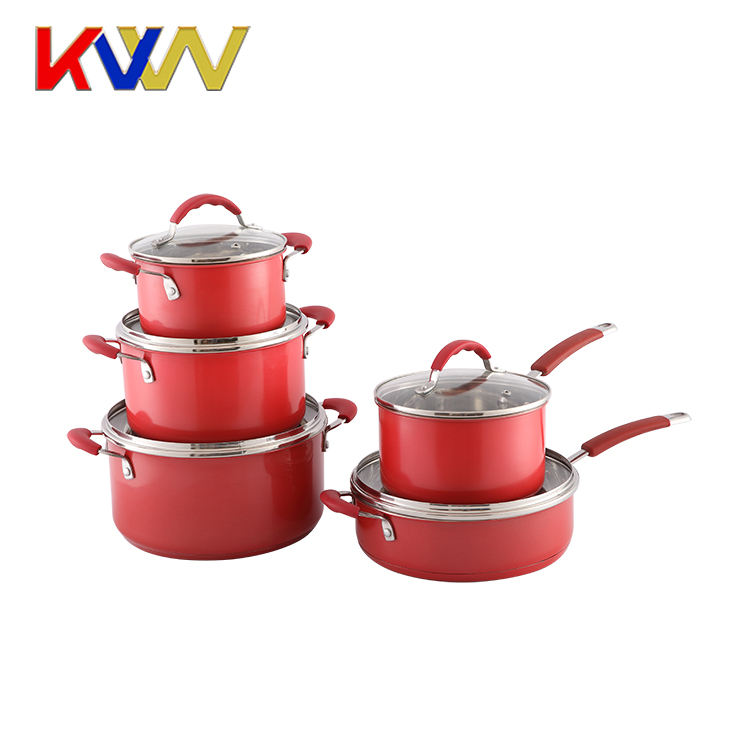 Good Quality Cooking Pot Set 10pcs Stainless Steel Kitchenware With Strainer Lids