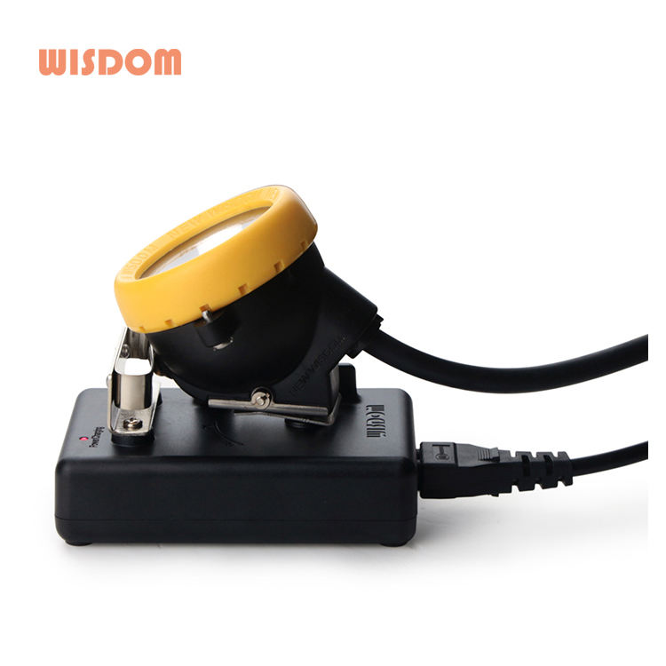 WISDOM ex miner head lamp recharge battery bright lamp, led light lithium battery cap lamp, led coal mining lights KL5MS