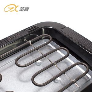 BG-01JX Adjustable Height Easily Install Electric Grill Non-Stick Easy Cleaning Smokeless Electric BBQ Grill Pan