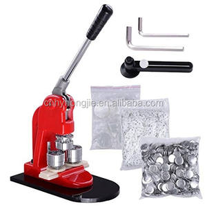Knop Making Machine Een Set 37Mm Schimmel + Een Plastic Papier Cutter + 1000Pcs 37Mm Pin badge