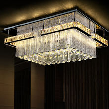 Modern Square crystal lamp Rain Drop Crystal Lamp LED Chandelier Lights and Lighting