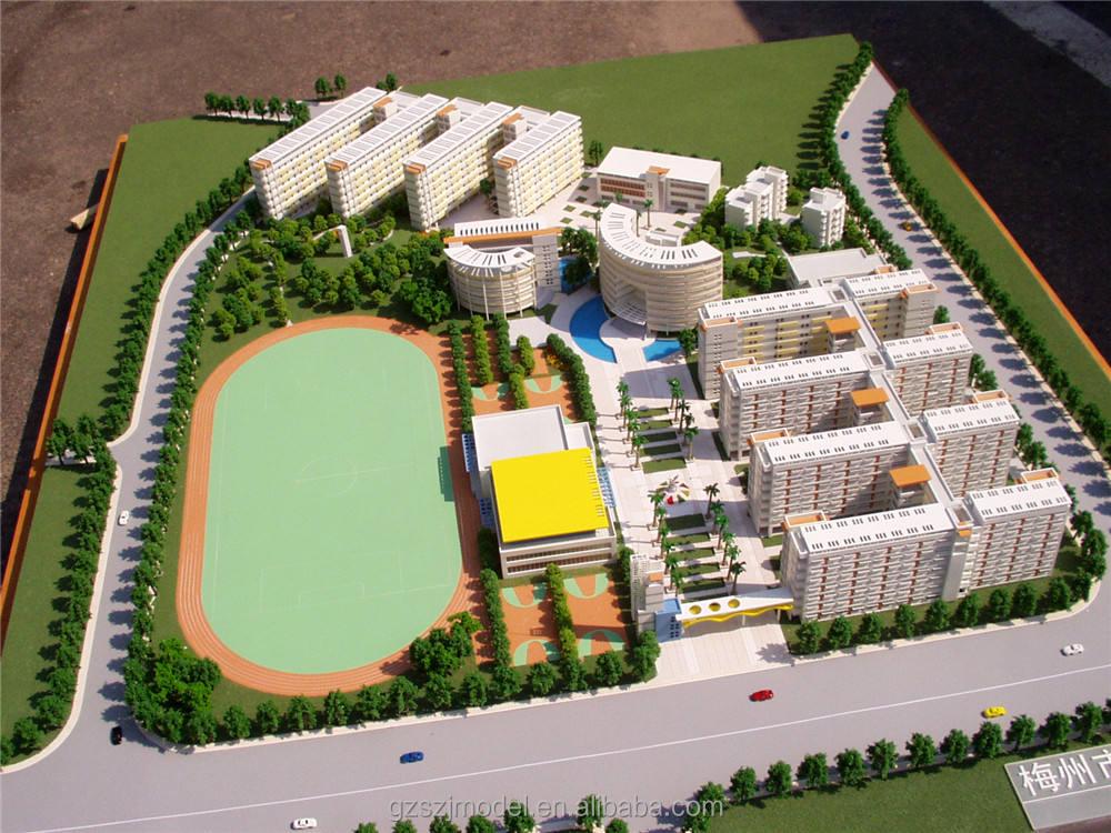Tuyệt vời acrylic mô hình sản xuất vật liệu cho bất động sản xây dựng mô hình, 3d trường quy hoạch kiến trúc mô hình