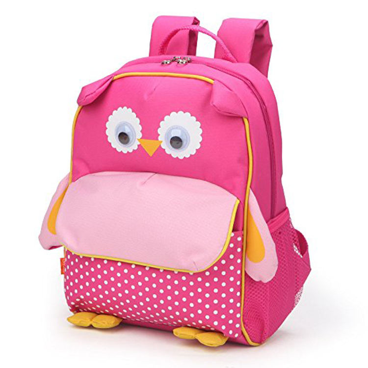 Custom girl's cute backpack schoolbag,pop kids cartoon school bag for children