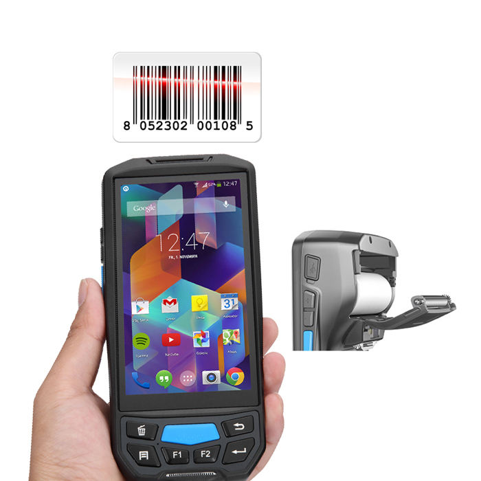 Android Bar Code Reader Qr Code Thermische Printer 58 Mm Met Rfid Smart Card Reader Handheld Apparaat Bluetooth Wifi