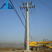 10kV to 500kV Electricity Industry Galvanized Power Transmission Electrical Steel Tubular Pole