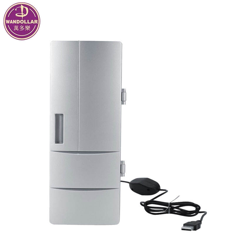 USB Fridge Cooler & Warmer Mini USB-Powered Beverage Drink Cans Cooler/Warmer Refrigerator for PC Laptop Car Home office