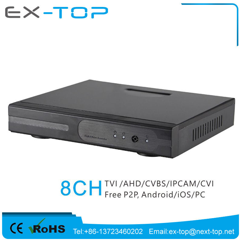 Support USB Backup Compatible dahua ip camera 1080P rohs h.264 8ch dvr