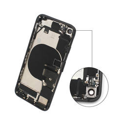 with small parts battery door cover for iphone 8 rear back housing with imei and logo