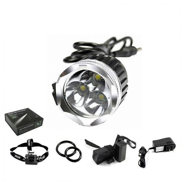 3X CREE XM-L U2 3LEDs Bicycle bike Head Light Lamp 6400mAh Battery US FedEx