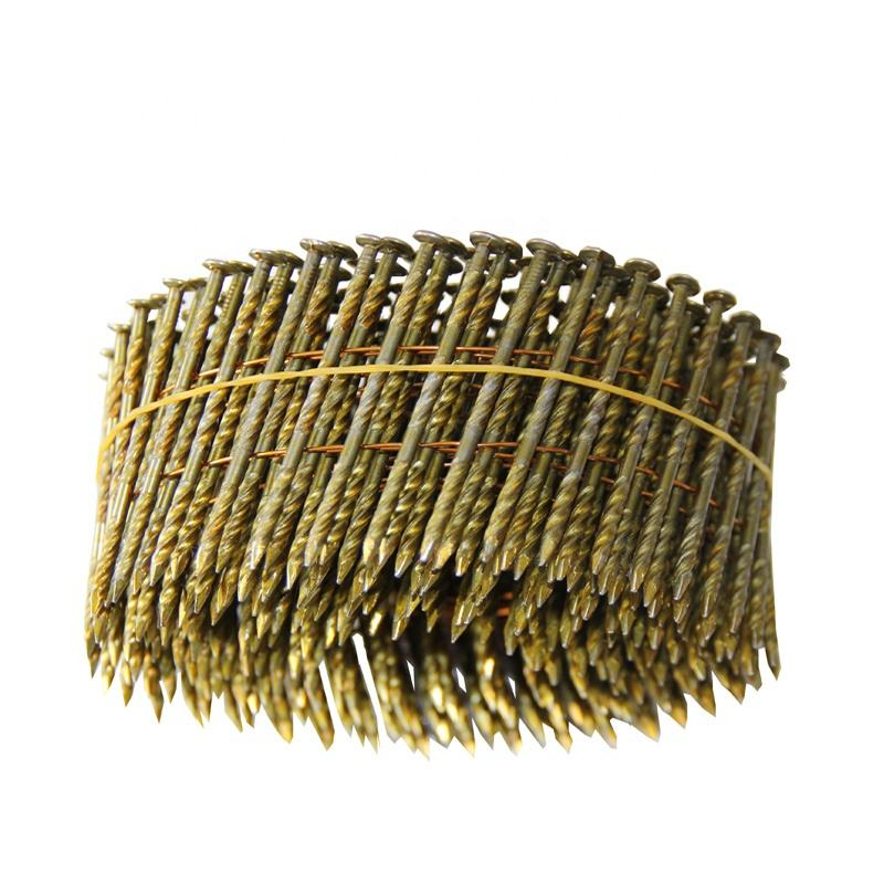 WIRE PALLET COIL NAILS CLAVOS HELICOIDALES SCREW SHANK DIAMOND POINT