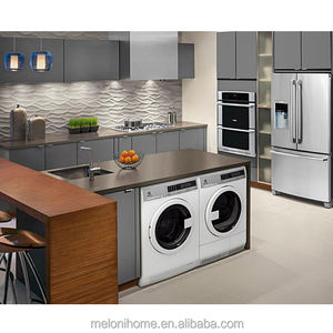 Made in China Laundry Kitchen with Washing Machine,Modern Kitchen Cabinet,Full Kitchen Units