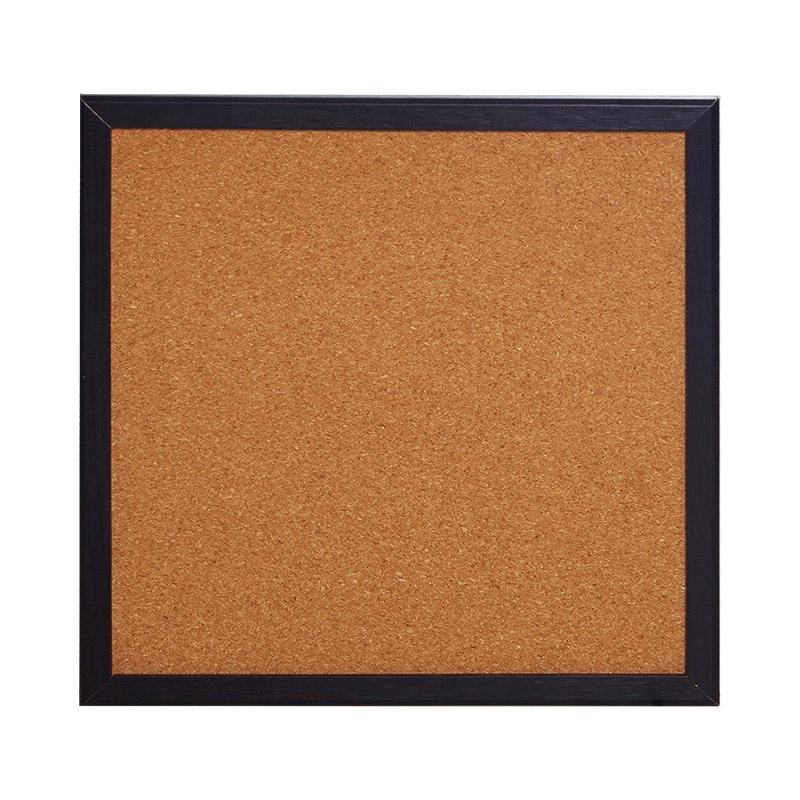 30*30 CM Single Sided Bulletin Cork roll Tiles Soft Pin Notice Memo Cork Board In Wooden Frame with Black Color
