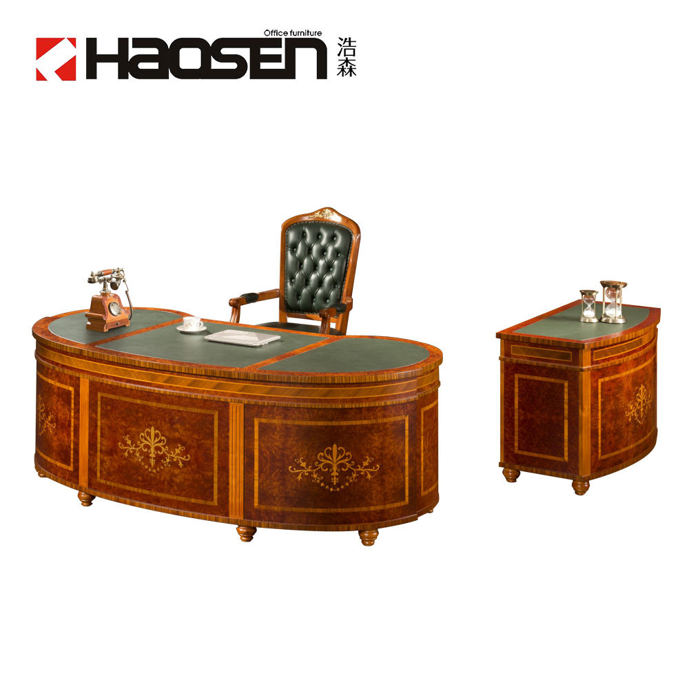 Haosen Rafflo 0809# Classic Executive table Solid wood Wooden Manufacturer office furniture