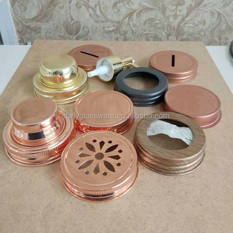 copper mason jar lids Wholesales