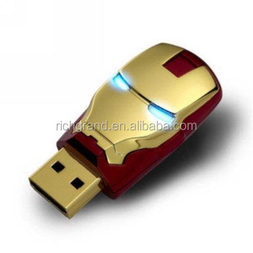 New Arrival 32G Iron Man Shape USB Flash Drive Wholesale USB 2.0 Pen Drive