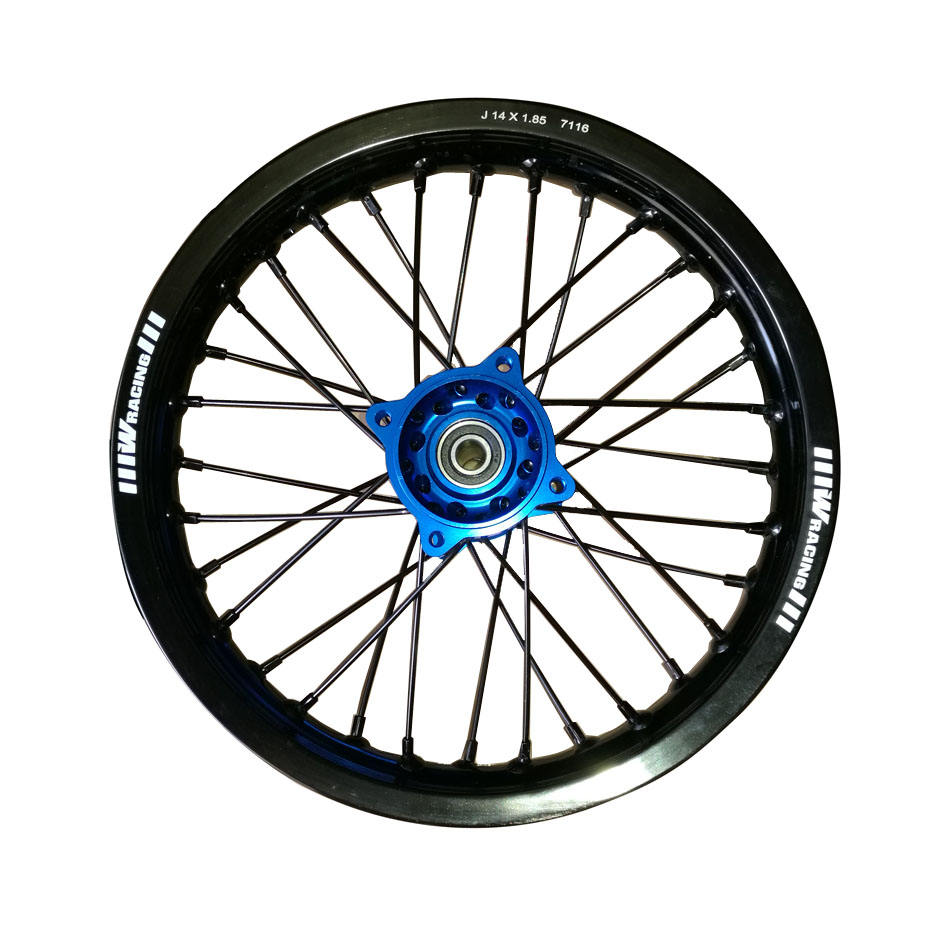 pit bike aluminum alloy wheel rim with CNC hub rear 14 inch J14x1.85 15mm Axle