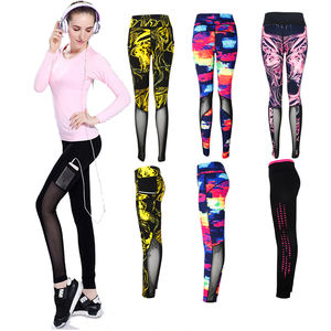 2018 wholesale sexy high waist workout gym yoga net fitness mesh leggings for womens