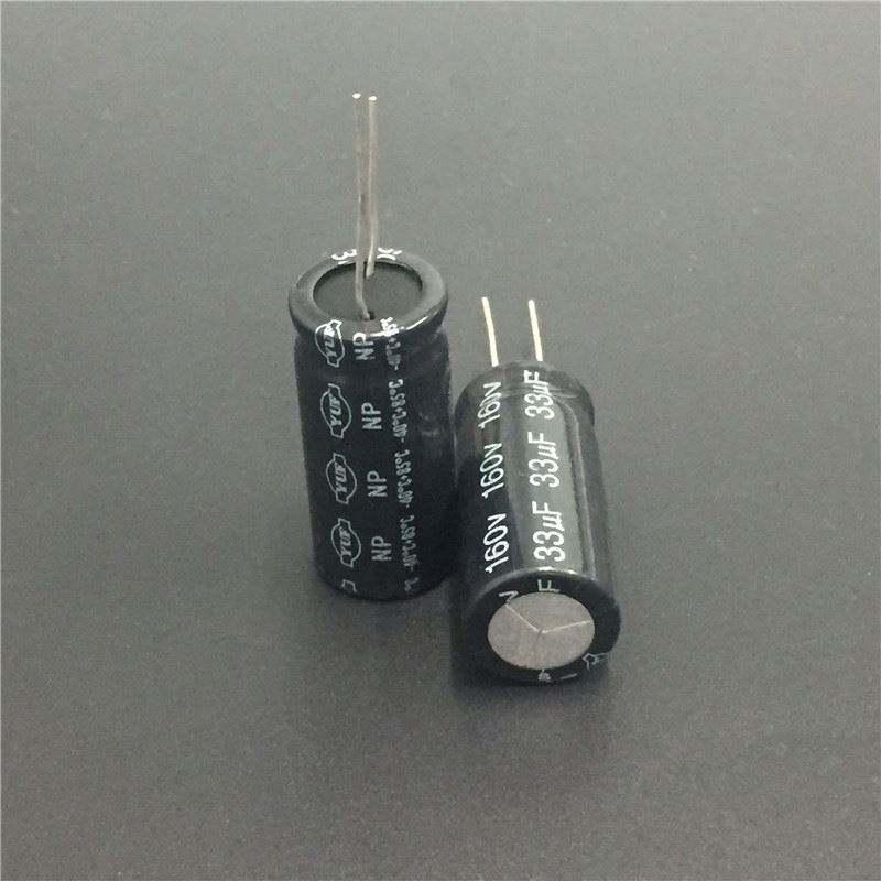 10pcs 33uf 160v Radial Electrolytic Capacitor 160v33uf