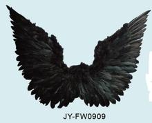 Wholesale flying black feather angel wings for halloween