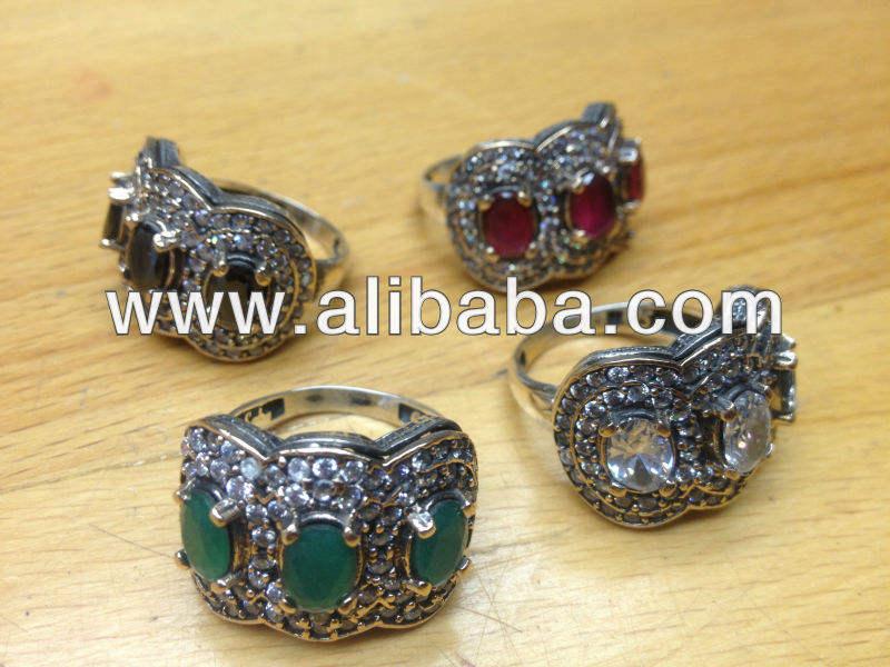 bracelet Argent sterling 925 fait main émeraude turc Boucle d/'oreille Pendentif Set