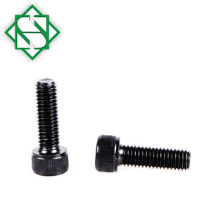 Shantou Hongsheng Black security Screw Carbon Steel Hex Socket Hand Screw