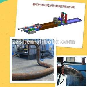Induction heating pipe bending machine
