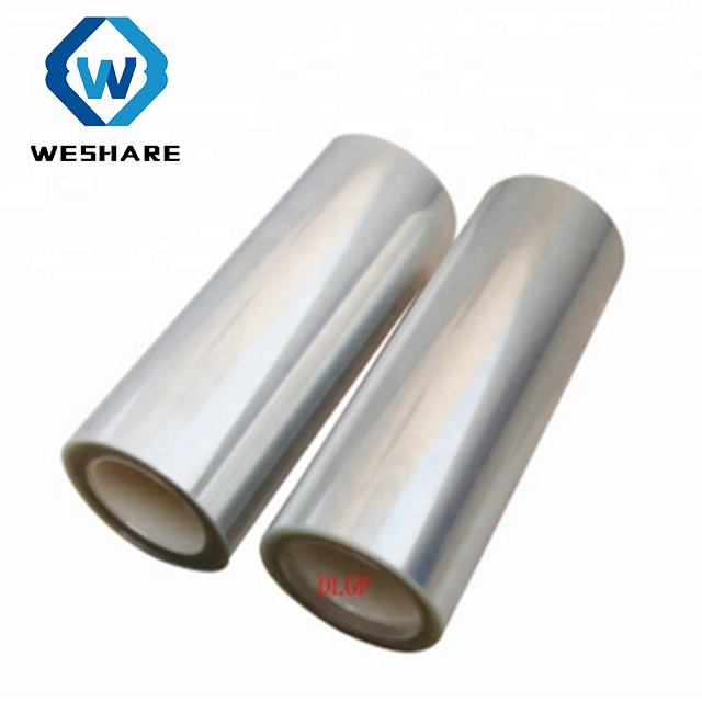 Transparent silicone coated pet release film