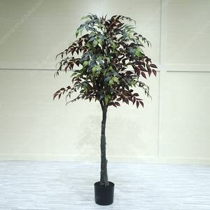 160cm artificiales verde banyan ficus venta mini durable topiary interior banyan árbol bonsai